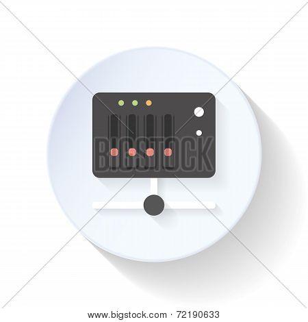 Nas Server Flat Icon