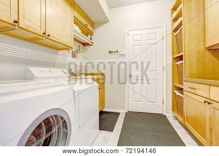 Beautiful Laundry Room In New House