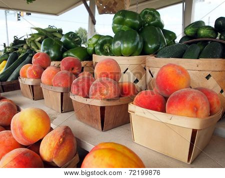Peaches At The Fruit Stand