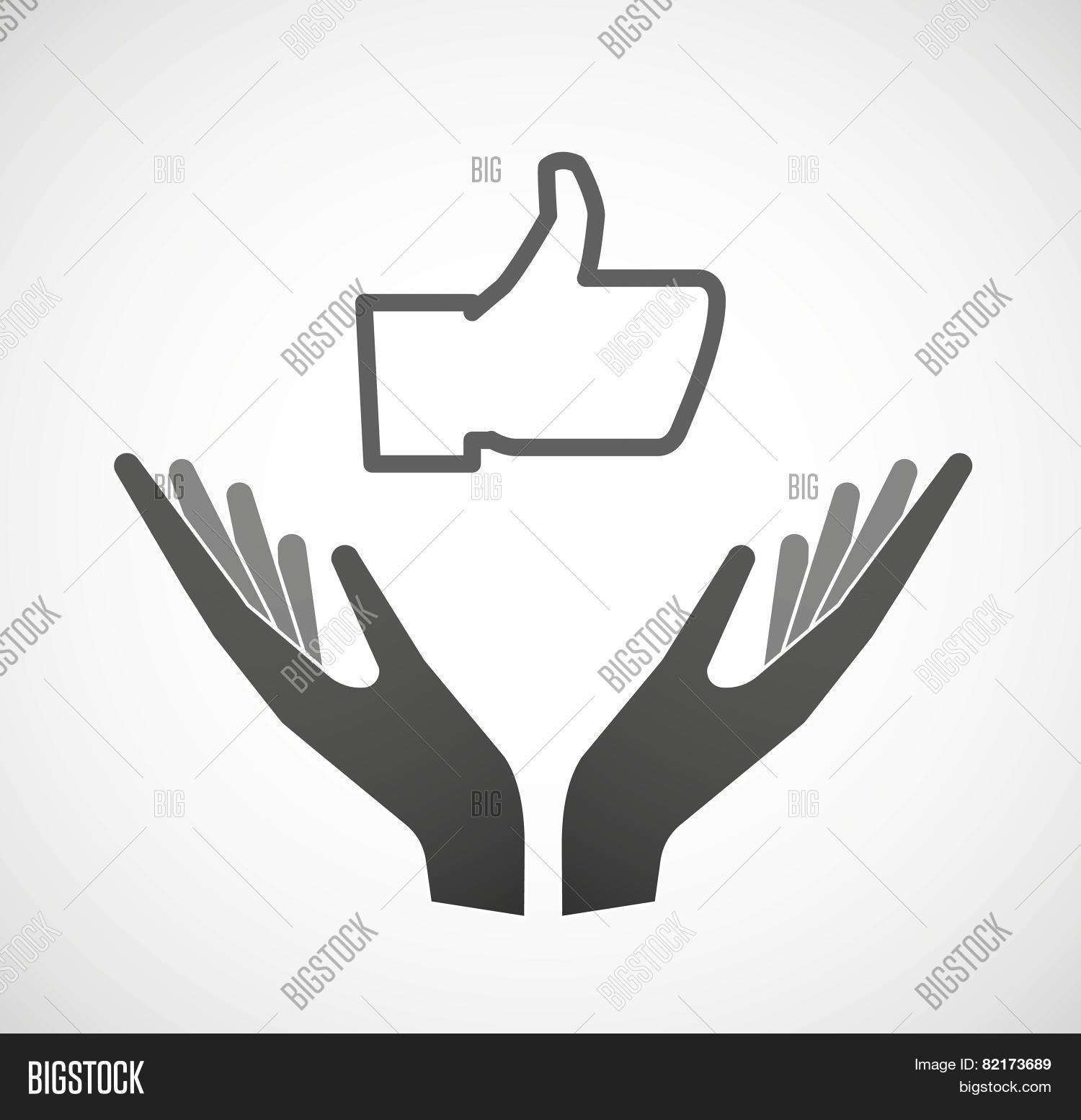 Two Hands Offering Vector Photo Free Trial Bigstock