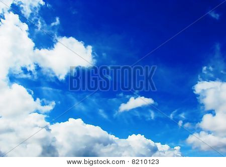 The Sky With Cumulus Clouds
