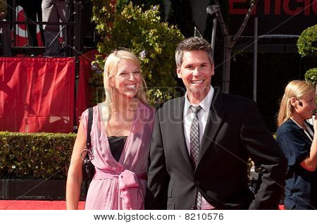 LOS ANGELES CA - JULY 15: John Henson, an American comedian, talk show host, and actor, on the red c