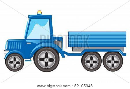 Tractor with pushcart