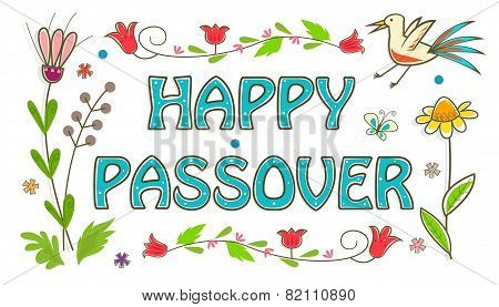 Colorful Passover Sign