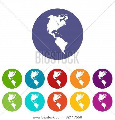 Continental Americas flat icon