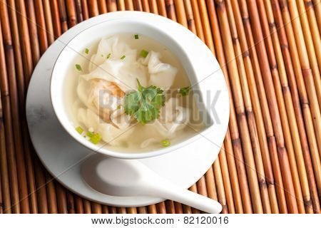 Thai Shrimp Wonton Soup
