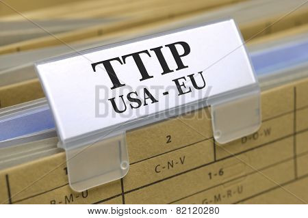 TTIP free trade agreement betwenn USA and Europe poster