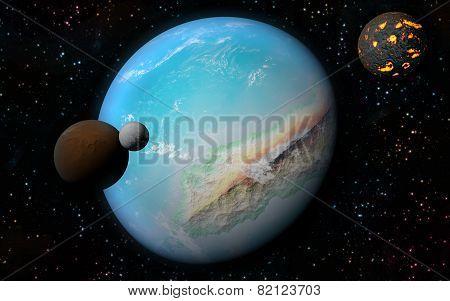 3D Earth Like Planet