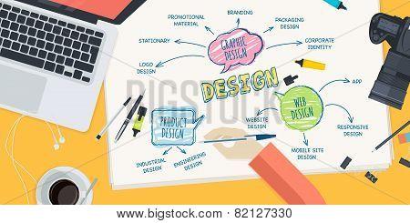 Flat design illustration concept for design