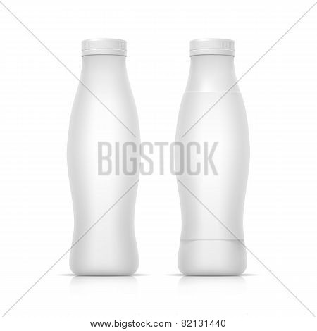 Blank White Packaging Container Bottle for Yogurt