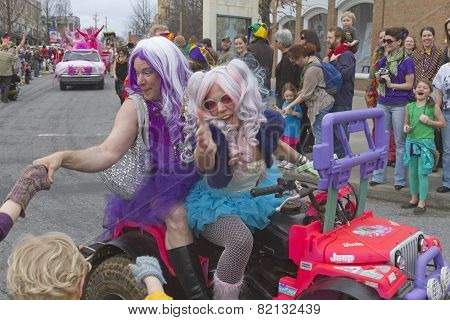 Happy Mardi Gras Handshaking
