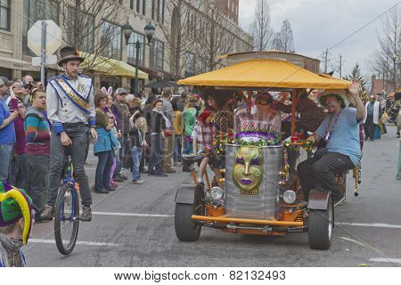 Mardi Gras Pubcycle In The Parade