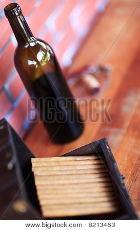 Bottle Of Wine And Cigars