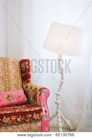 Sofa with Lamp