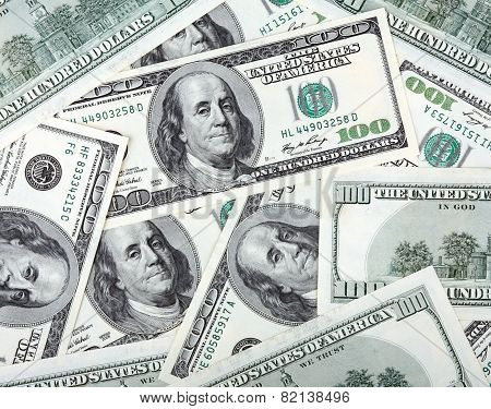 American Dollars Hundreds Banknote