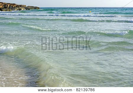 Shallow Waves Azure Water