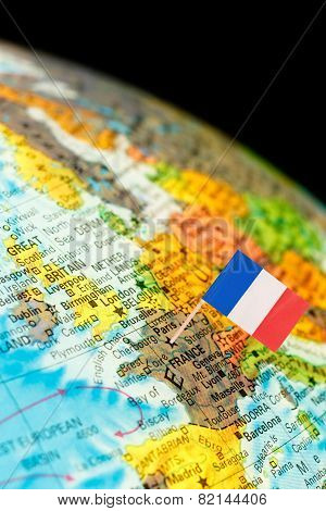 Map With Flag Of France