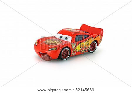 Tongue Lighting McQueen Toy Car A Protagonist Of The Disney Pixar Feature Film Cars.