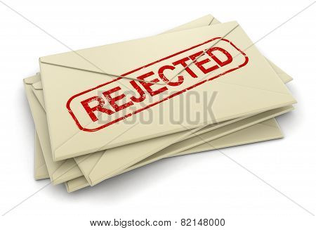 Rejected letters  (clipping path included)