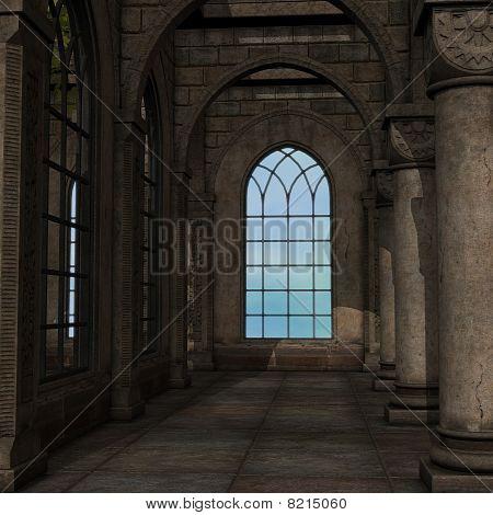 magic window in a fantasy setting