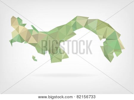 Low Poly map of Panama