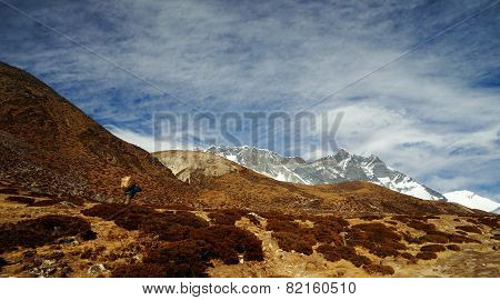 Sherpa In Himalayas.