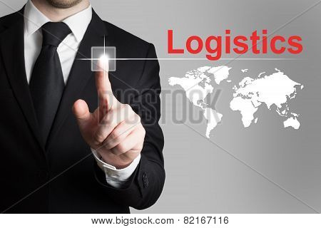 Businessman Pushing Button Logistics