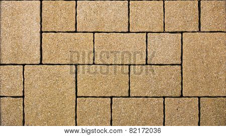 A yellow concrete pavement sample texture image. poster