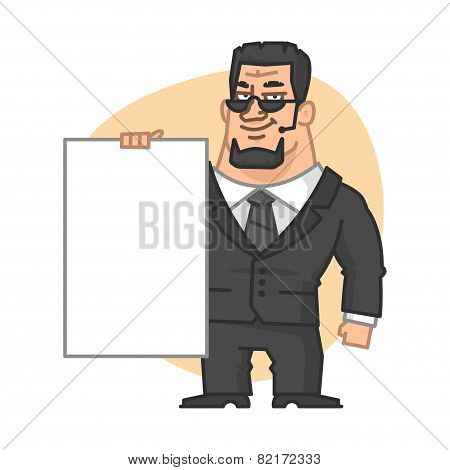 Guard holding blank plate vertically