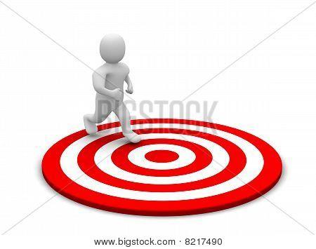Running man and target
