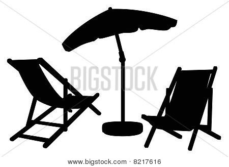 Garden furniture silhouettes