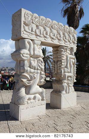 TEL- AVIV-JAFFA, ISRAEL - 31 DECEMBER 2010: Photo of The sculpture