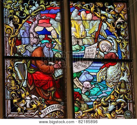 Stained Glass - The Prophet Jeremiah