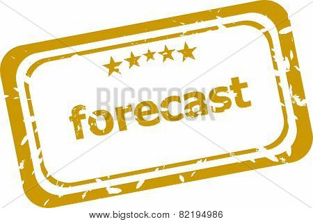 Forecast Stamp Isolated On White Background