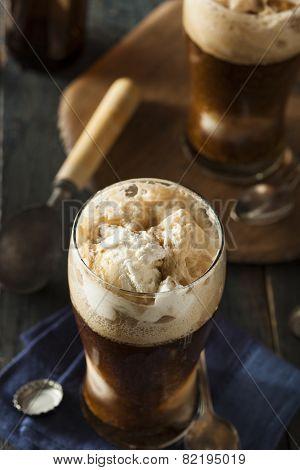 Frozen Dark Stout Beer Float