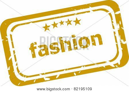 Fashion Stamp Isolated On White Background