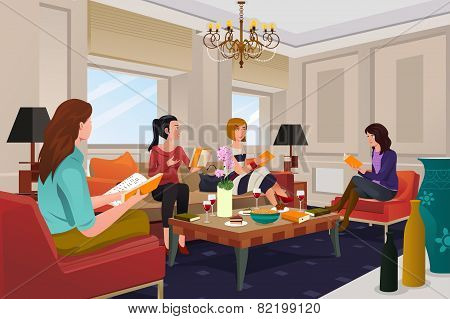 Women In A Book Club Meeting