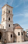 Famous Saint Lazarus christian church at Larnaca Cyprus poster