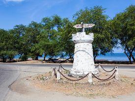 Old road sign in Dili East Timor (Timor Leste)