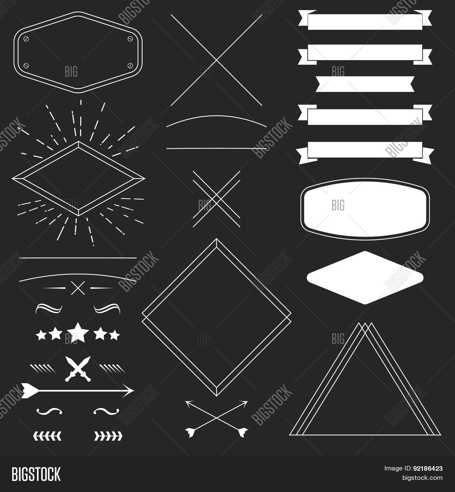 set vintage hipster vector photo free trial bigstock
