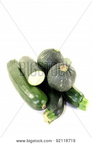 Fresh Green Zucchini Mixed