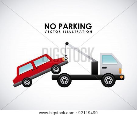 parking signal over gray   background vector illustration poster