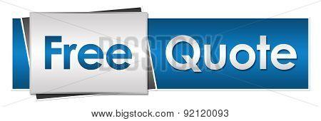 Free Quote Blue Grey Horizontal