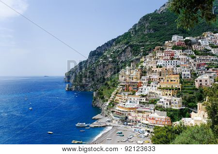 Positano Panoramic View, Amalfi Coast, Italy