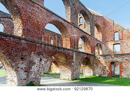 Red Brick Ruin With Arches Of A Monastery Building, Bad Doberan