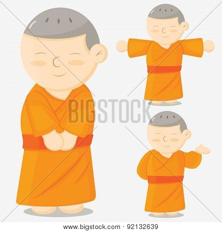 Buddhist monks cartoon