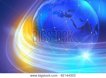 Graphical Digital World Background