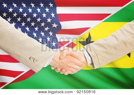 Businessmen Handshake - United States And Sao Tome And Principe