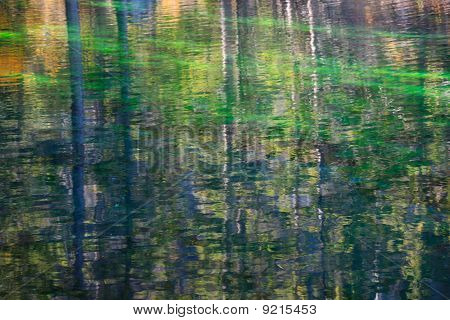 Autumn Reflections In Small Alpine Lake