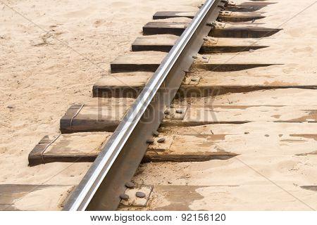 Rail Track In Sand